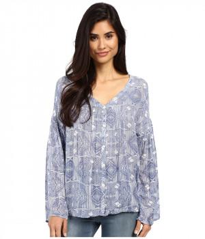 Блузка женская голубого цвета