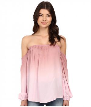 Блузка женская розовая в принт