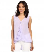 Блузка женская фиолетовая без рукавов