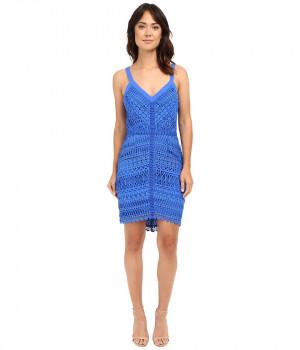 Платье синее на лямках