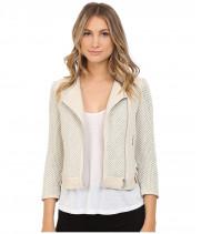Куртка женская белая косуха