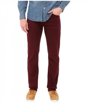 Джинсы мужские бордового цвета