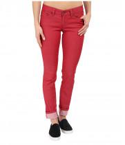Джинсы женские красного цвета