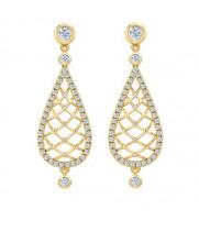 Серьги золотые с бриллиантами Восторг