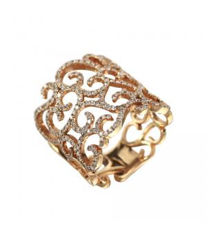 Кольцо золотое с бриллиантами Импровизация