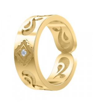 Кольцо золотое с бриллиантом Сияние