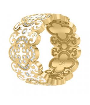 Кольцо золотое с эмалью и бриллиантами Лаура