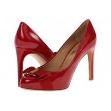 Туфли женские красный с бантом