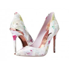 Туфли женские белые с рисунком