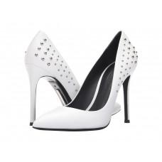 Туфли женские белые с заклепками